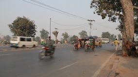 Занятая дорога в Лахоре, Пакистане видеоматериал