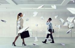 Занятая жизнь офиса Мультимедиа Стоковое Изображение