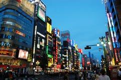 Занятая улица токио Стоковые Изображения