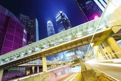 Занятое движение в Гонконге стоковые изображения rf