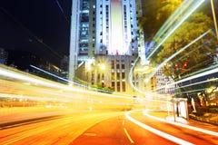 Занятое движение в городе стоковые изображения