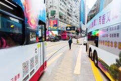 Занятое движение на королях Дороге в Гонконге Стоковое Изображение