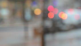 Занятое timelapse улицы города  видеоматериал