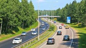 Занятое timelapse шоссе сток-видео