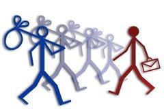 Занятость и безработица Стоковое фото RF