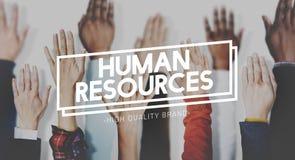 Занятость человеческих ресурсов выдает концепцию стоковая фотография rf