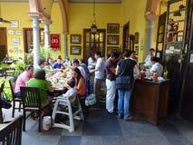 Занятый ресторан Майя Chaya Ла Стоковая Фотография