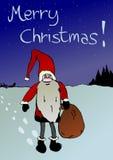 Занятый Санта Клаус иллюстрация штока