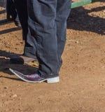 Заострённый ботинок стоковые изображения rf