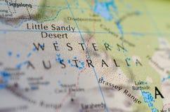 Западная Австралия на карте Стоковые Фотографии RF