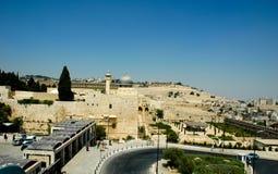 Западная стена, купол утеса и мечеть Aksa - 2004 Стоковые Изображения RF