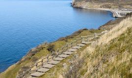 Западная сторона острова Борнхольма - Дании Стоковое Изображение RF