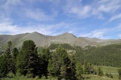 западное гор горы ландшафта sayan Стоковое Изображение RF