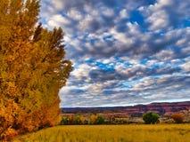 Западное небо долины Колорадо в осени стоковая фотография