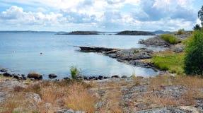 Западное побережье Швеции во время лета Стоковое Изображение RF