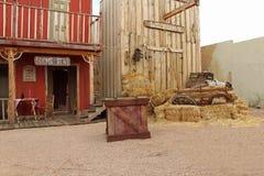 Западные дома на этапе o K Перестрелка загона в надгробной плите, Аризоне Стоковые Фотографии RF