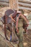 Западные седловина катания и одеяло лошади Стоковая Фотография RF