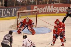 Западные серии игр хоккейной лиги Стоковая Фотография