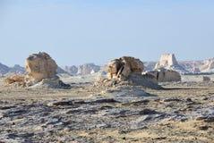 Западный белый пейзаж пустыни Сахара, Египет стоковая фотография