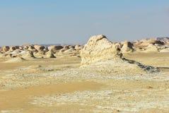 Западный белый пейзаж пустыни Сахара, Египет стоковые изображения