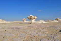 Западный белый пейзаж пустыни Сахара, Египет стоковое фото rf