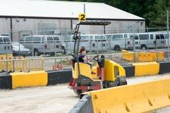 ЗАПАДНЫЙ БЕРЛИН, NJ - 28-ОЕ МАЯ: Diggerland США, парк приключения конструкции тематический стоковое изображение