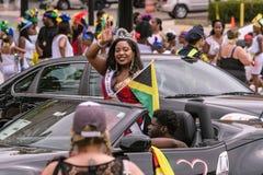 Западный индийский парад Hartford Коннектикут стоковые изображения