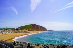 Западный обозревать пляжа залива стоковые фото