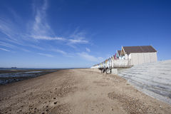Западный пляж Mersea, Essex, Англия Стоковые Фотографии RF