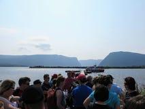 Западный пруд ручейка, Ньюфаундленд, Канада - 22-ое июля 2014: A.C. стоковое фото rf
