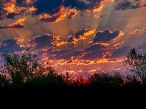 Западный рассвет Колорадо июля стоковое изображение rf