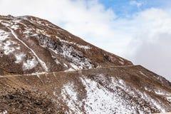 Западный Сычуань, Китай, пейзаж барона Холма со снегом стоковые изображения