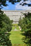 Западный фасад королевского дворца madrid Испания стоковые фото