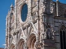 Западный фасад собора Сиены Стоковое Изображение