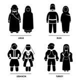 Западный Costume одежды Азии иллюстрация вектора