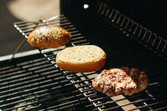 Запасные части для гамбургера Стоковые Фото