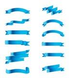 Запас вектора голубой ленты собрания Стоковое фото RF