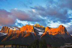 запас горы banff Стоковое Изображение