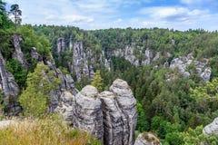 Запас горы Bastei Saxon Швейцария Стоковые Фотографии RF