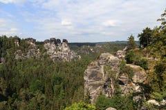 Запас горы Bastei Saxon Швейцария Стоковая Фотография RF