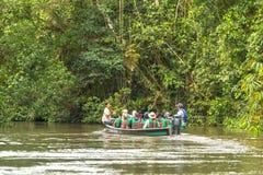 Запас живой природы Cuyabeno, провинция Sucumbios, эквадор, февраль стоковая фотография rf