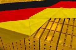 Запас золотого резерва Германии Стоковые Изображения RF