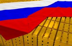 Запас золотого резерва России Стоковые Фотографии RF