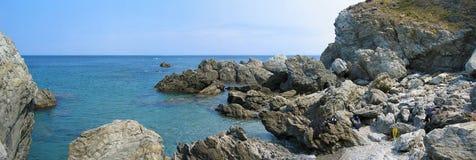 запас панорамы cerbere banyuls морской Стоковое Изображение RF