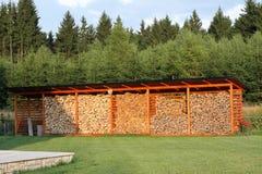 Запас древесины, кучи древесины Стоковая Фотография RF