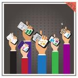 Запас v проверки концепции дела app установленного телефона сети онлайн Стоковые Изображения