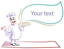 запахи пиццы шеф-повара хорошие иллюстрация штока