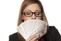 Запах денег стоковое фото rf