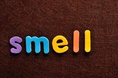 Запах слова стоковые изображения