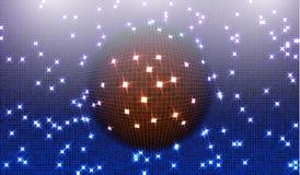 Запачкайте голубую предпосылку градиента яркой перспективы с квадратом освещения накаляя Графические шаблоны изображения Абстракт Стоковая Фотография RF